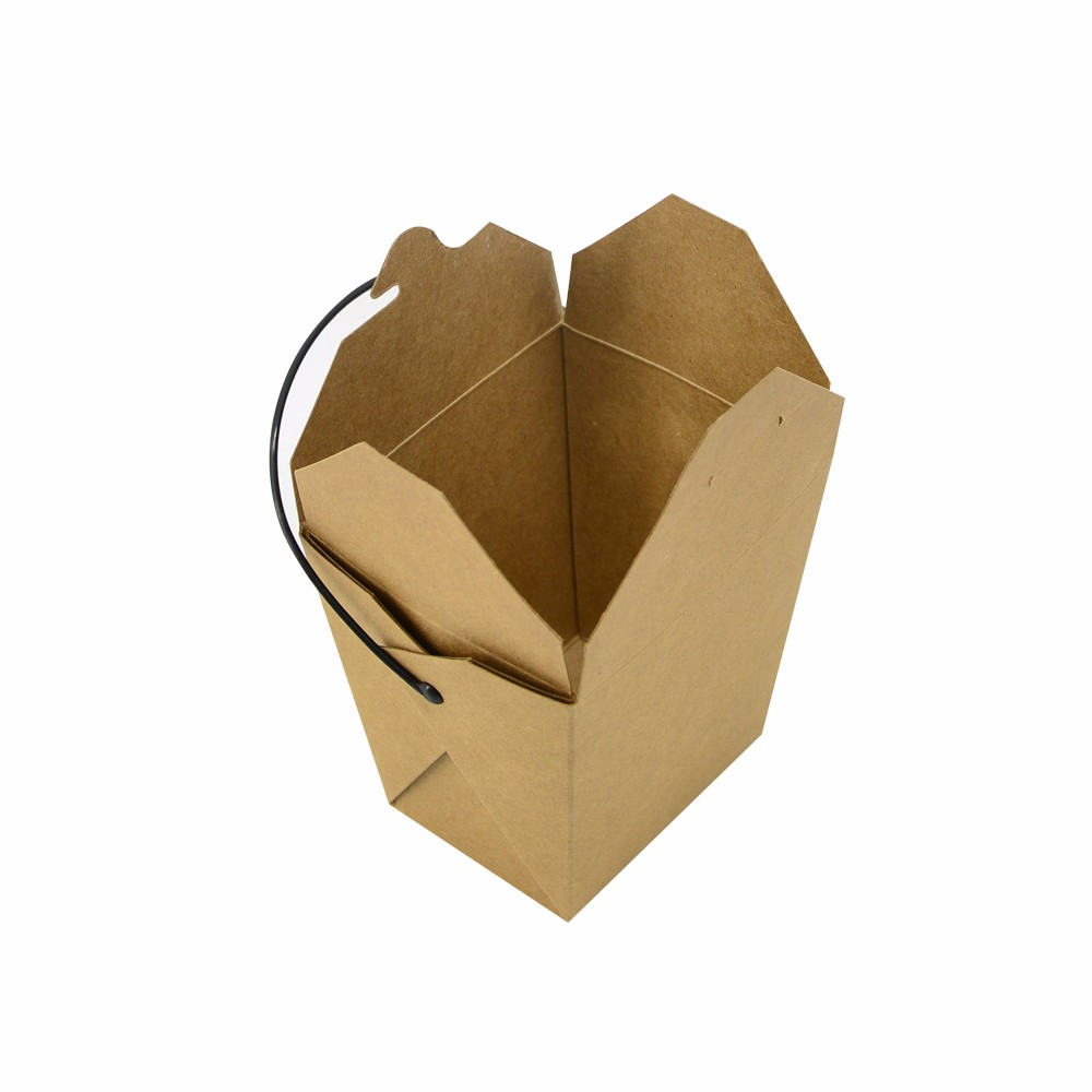 China Plant Fast Food Kraft Paper Box Packaging