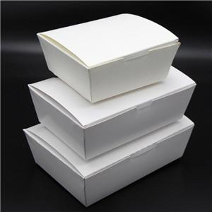 Factory Price White Color Food Box Take Away Paper Box