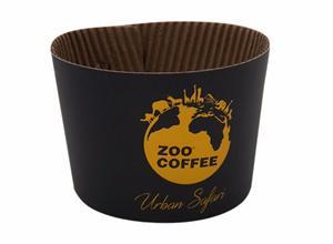 ファクトリーカスタム用紙カップスリーブコーヒーカップスリーブ