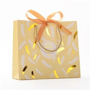 ハンドル付きOEM工場リサイクル安い茶色の紙バッグ