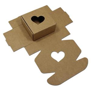 OEM Welcome Factory Brown White Black Square Kraft Paper Gift Boxes Packaging Hollow Out Cardboard Carton For Wedding Party Cookies Candy