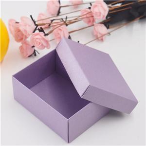 Vendedor de China púrpura de cartón de embalaje caja de regalo caja con tapa para la joyería caja de cartón de pequeñas embarcaciones jabón hecho a mano regalo