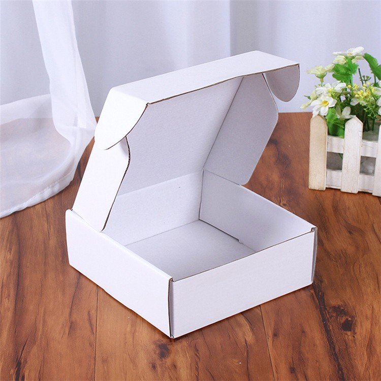 China Plant Carton Cardboard white Flute E Corrugated Shipping Box