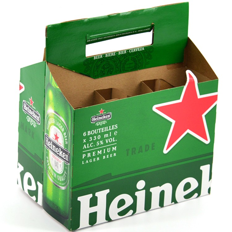 Beer carrier holder carton box wine paper carrier