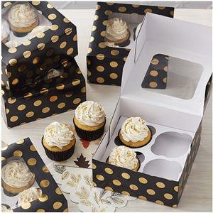 caja de pastel personalizada de 10 pulgadas con ventana