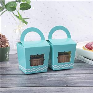 cajas de pastel de panadería azul personalizado al por mayor