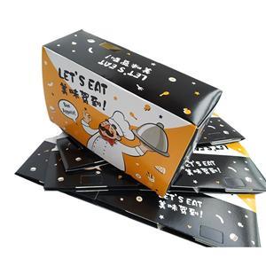 proveedor de china empaquetado personalizado papel hamburguesa caja de comida