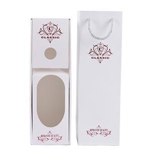 caja de empaque de vino blanco customzied de lujo