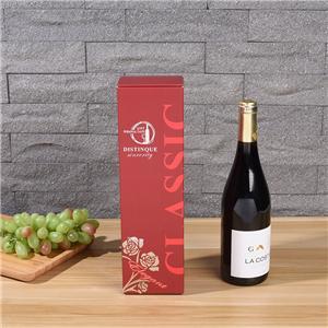 Cajas de embalaje de botella de vino tote rojo proveedor de China