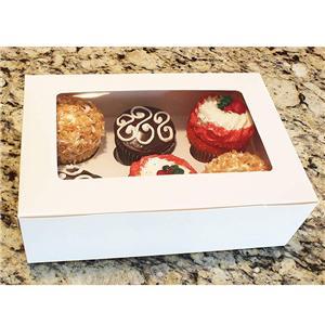 caja de paquete de pastel de taza personalizada de fábrica de china con ventana