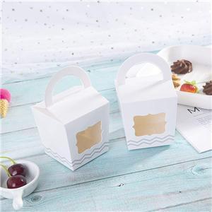 caja de papel de embalaje de la torta de la comida de la fábrica de China