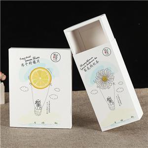 Fábrica de China comida personalizada fruta té caja de papel de embalaje