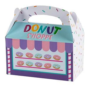 Proveedor de China cajas de postre de donut blanco al por mayor