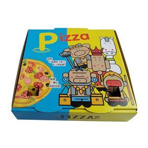 caja de papel de embalaje de pizza de comida de cartón personalizado