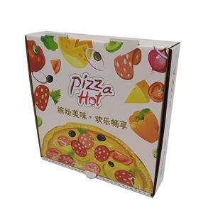 Caja de papel de embalaje de pizza personalizada de fábrica de China