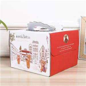 paquete de pastel de cartón personalizado caja de papel al por mayor