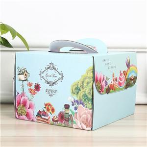 cajas de papel de empaquetado de cartón de pastel de comida de lujo