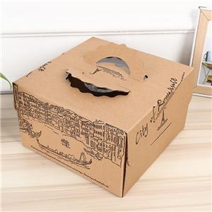 Embalaje de cajas de papel de cartón de pastel ecológico