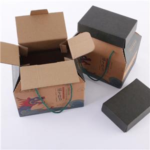 caja de cartón corrugado de embalaje de regalo de comida de fábrica de china