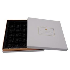 Caja de embalaje Fabricante de cartón blanco caja de papel de chocolate con bandeja de papel