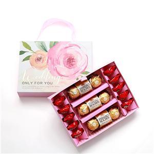 China Fábrica al por mayor de impresión precio de fábrica color rojo lindo caja de regalo de chocolate vacío