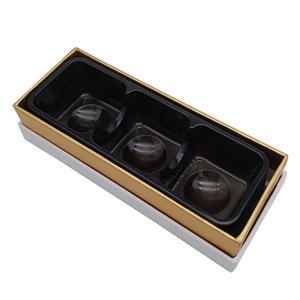 Caja de regalo de papel de cartón de chocolate brillante dorado de fábrica de China para niños
