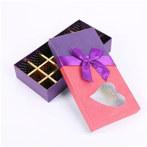 Proveedor de China Embalaje de caja de papel de chocolate Encantadora caja de embalaje de chocolate con divisor de papel
