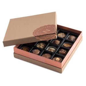 Fabricante de cajas de embalaje Embalaje de caja de papel de forma cuadrada para chocolate con impresión de logotipo y estampado de lámina de oro