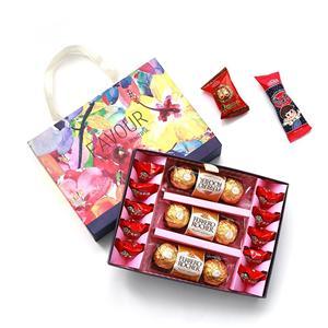 Cajas de papel de chocolate para el día de San Valentín Cajas de chocolate baratas únicas Caja de papel de regalo