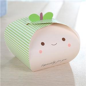 Paquete de alimentos de postre al por mayor Pastel reciclado Caja de papel de panadería