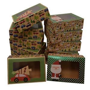 venta al por mayor navidad magdalenas cajas de papel de envasado de alimentos
