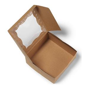 caja de embalaje de panadería de chocolate de papel kraft cuadrado personalizado
