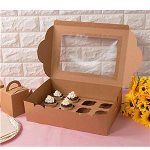 Fábrica de China kraft food paper cake panadería caja de embalaje con ventana