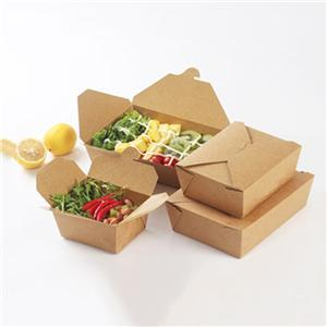 China factory kraft food salad paper packaging box con ventana