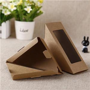 Fábrica de China kraft food sandwich caja de embalaje de papel con ventana