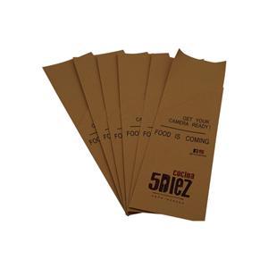 caja de embalaje de papel de vajilla de alimentos kraft personalizada