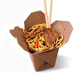 Fábrica de China kraft cajas de papel de comida de fideos de embalaje personalizado