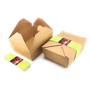 caja de papel de embalaje de grado alimenticio kraft personalizado