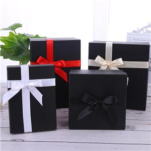 Factory Wholesale black color printing paper box with magnetic close and EVA insert paper gift box