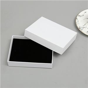 Factory Wholesale Classic white color coated paper lid and tray packaging box with foam insert