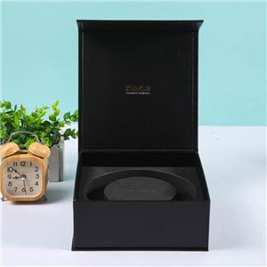 China Factory Black color printing glasses packaging gift box soft touch laminate pull out paper box