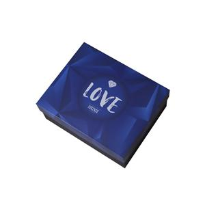 Caja de papel de regalo de impresión plegable negro personalizado de fábrica OEM