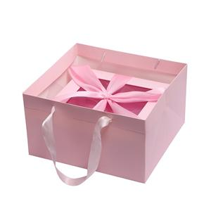 OEM Factory custom shipping boxes cardboard gift boxes magnetic closure foldable ribbon closures paper box