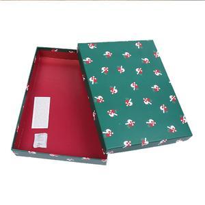 Caja de regalo de decoración de Navidad de lujo plegable de cartón OEM