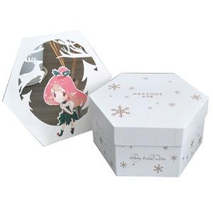 OEM Facoty custom logo mystery luxury gift box hexagon rigid gift box regular shape gift box
