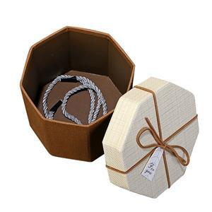 logotipo personalizado misterio caja de regalo rígida hexagonal de lujo caja de regalo de forma regular