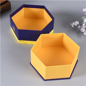 logo personnalisé mystère luxe hexagone rigide produits de santé forme régulière boîte-cadeau