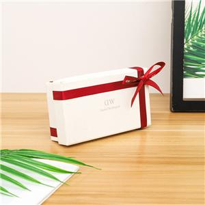 factory packaging customized size paper gift box with colorful ribbon