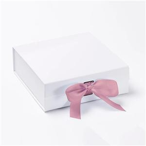 OEM Factory High quality free design custom gift packaging paper box with Ribbon Closure