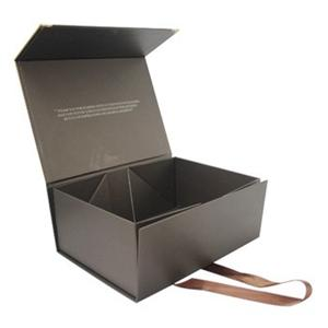 Sweet Luxury Black Packing Custom Folding Decorative Paper Packaging Gift Box With Ribbon